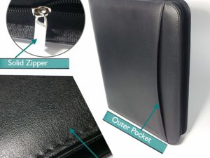 TUCKMER Padfolio With Zipper