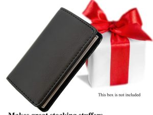 Business Card Holder for Men and Women – Genuine Leather and Premium Stainless-Steel